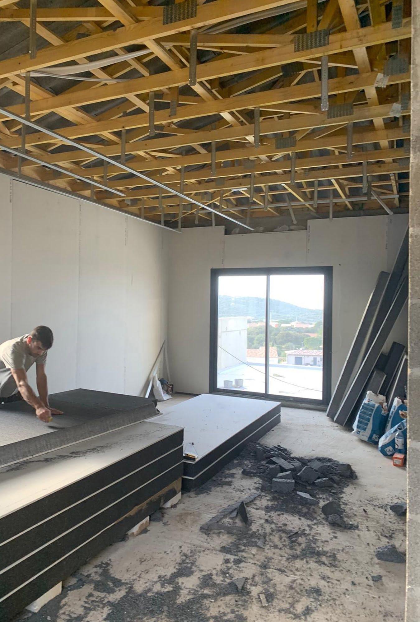 chantier isolation charpente maison corse ls studio architecte intérieur vannes