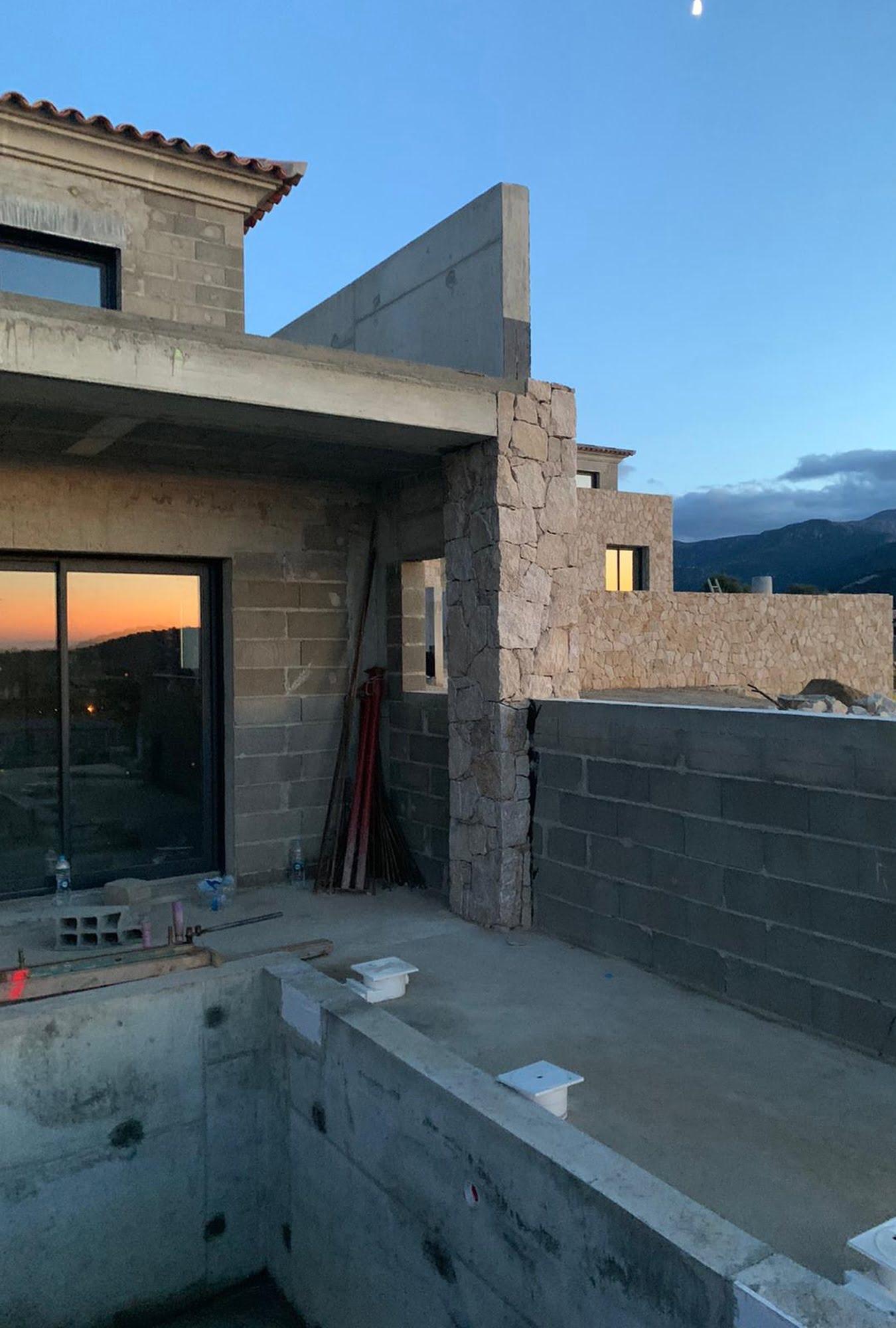 chantier maison corse ls studio architecte intérieur vannes