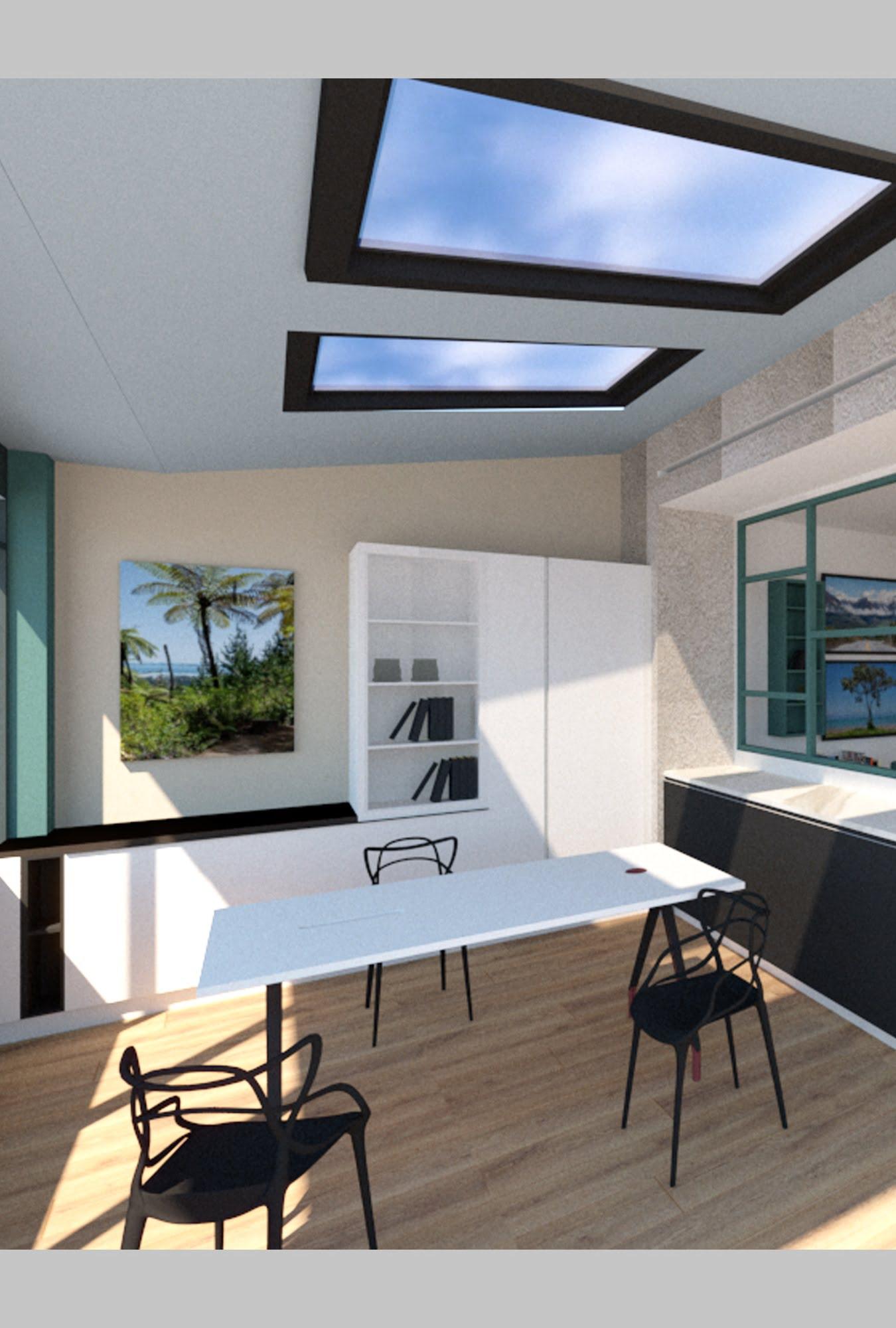 vue atelier 3D intérieur showroom ls studio architecte intérieur vannes