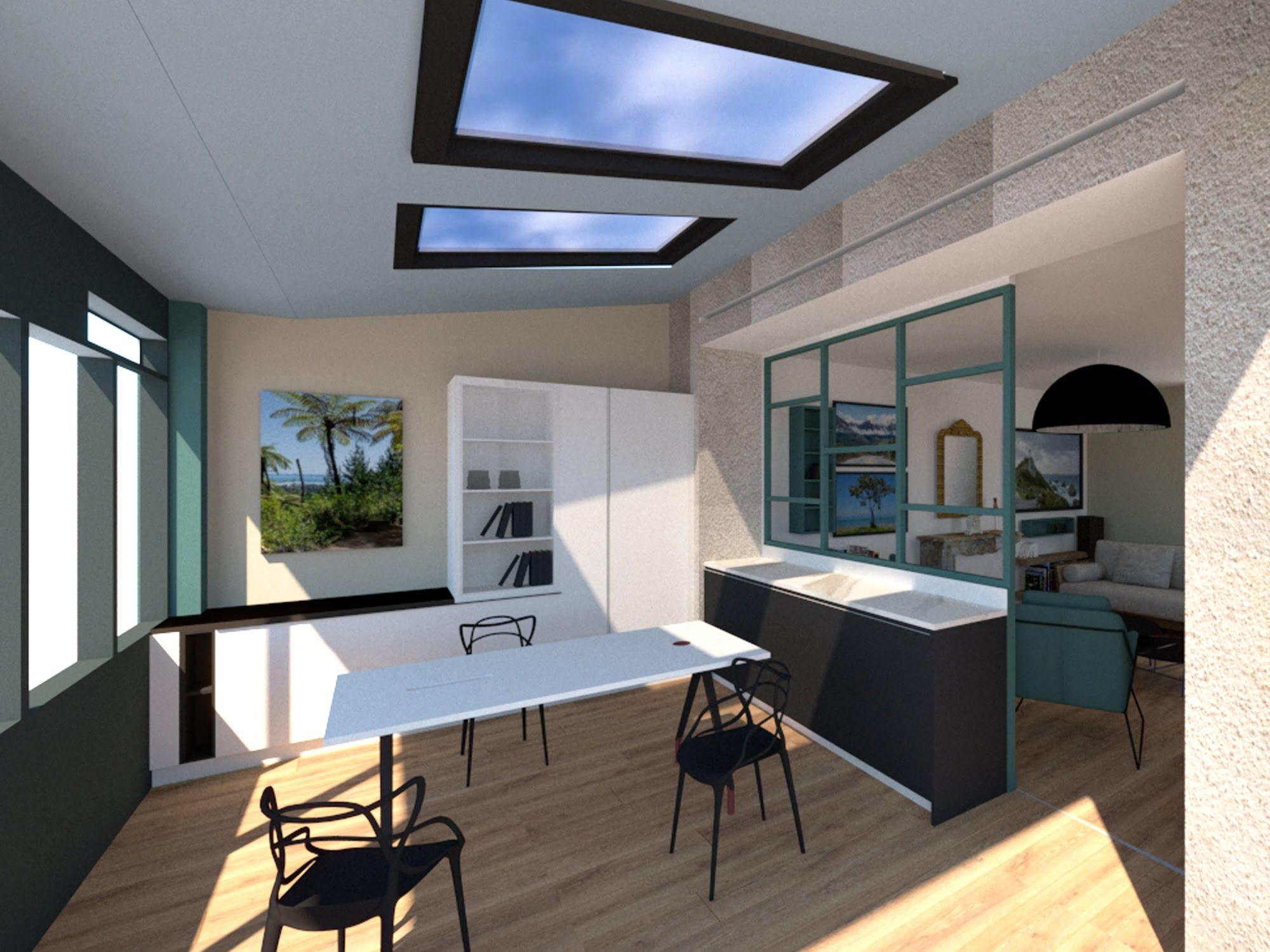 vue bureau du showroom 3D ls studio architecte intérieur vannes