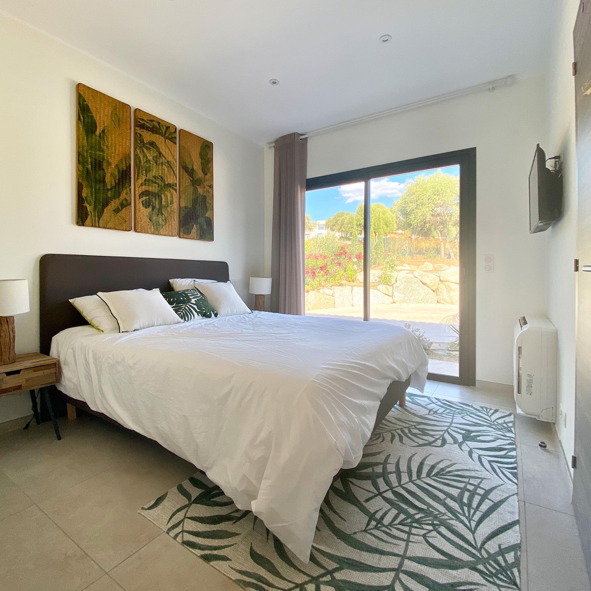 Villa corse agencement interieur chambre vue verte ls studio architecte intérieur vannes