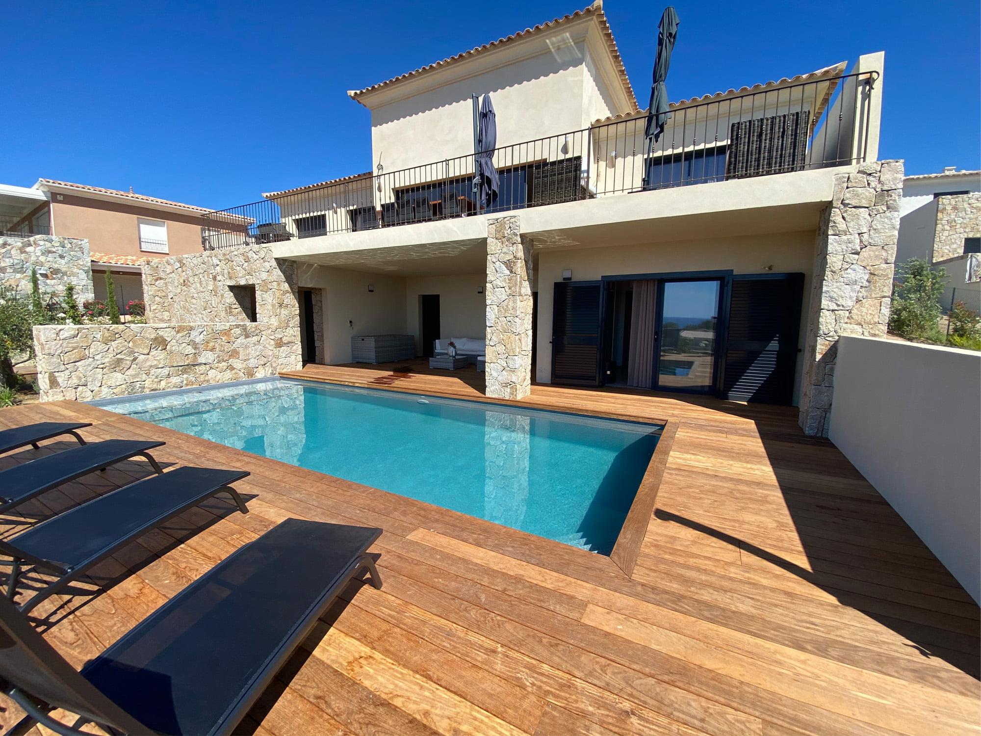 vue exterieure villa corse ls studio architecte intérieur vannes