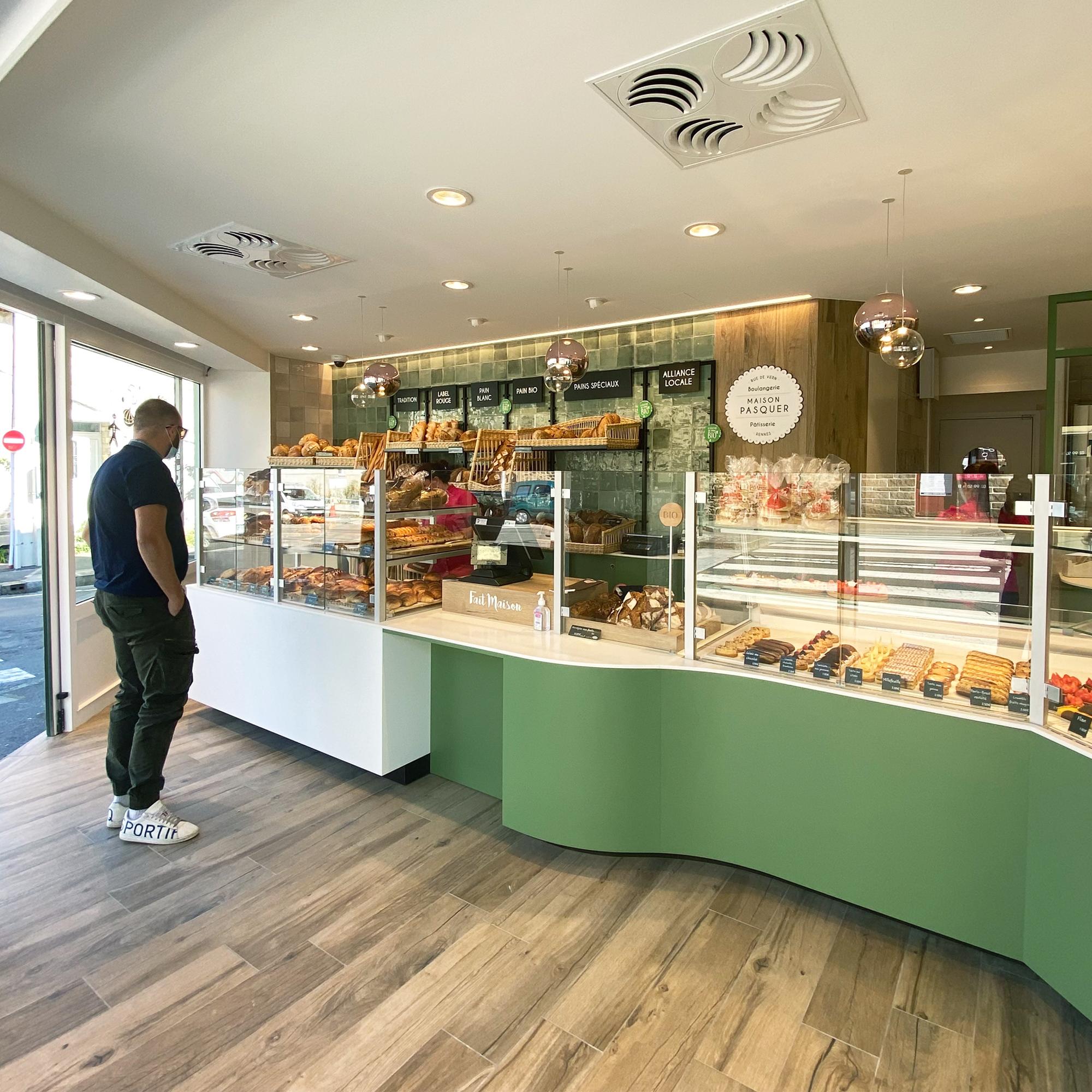 Design projet intérieur détails rénovation boulangerie rennes architecture