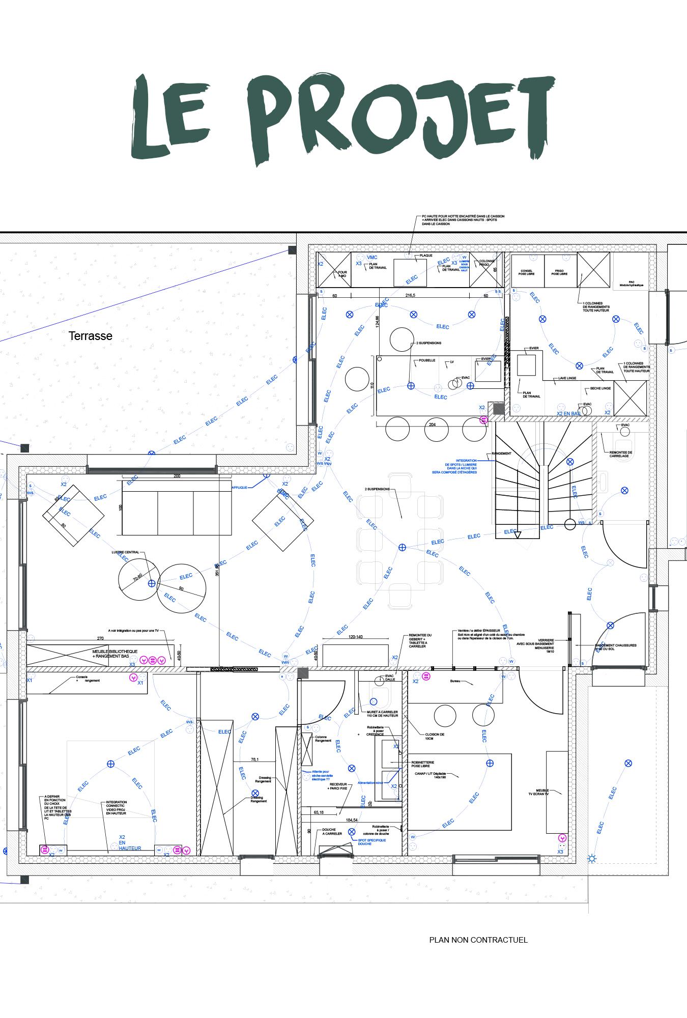PLAN agencement validée création 3D interieur architecte