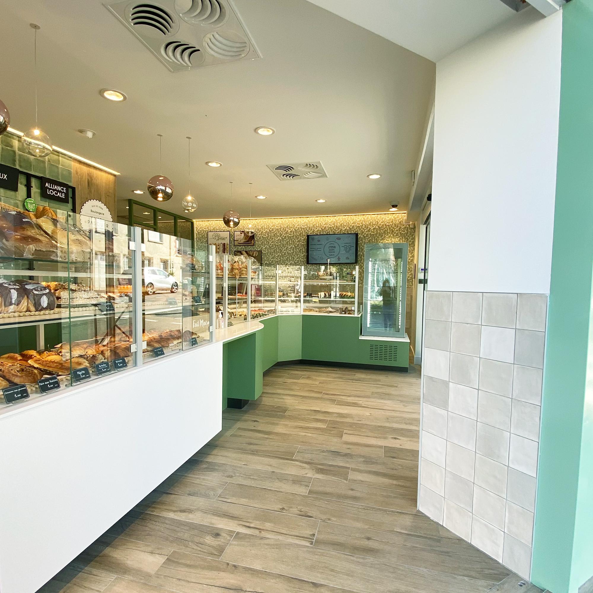 agencement intérieur projet rénovation boulangerie rennes architecture