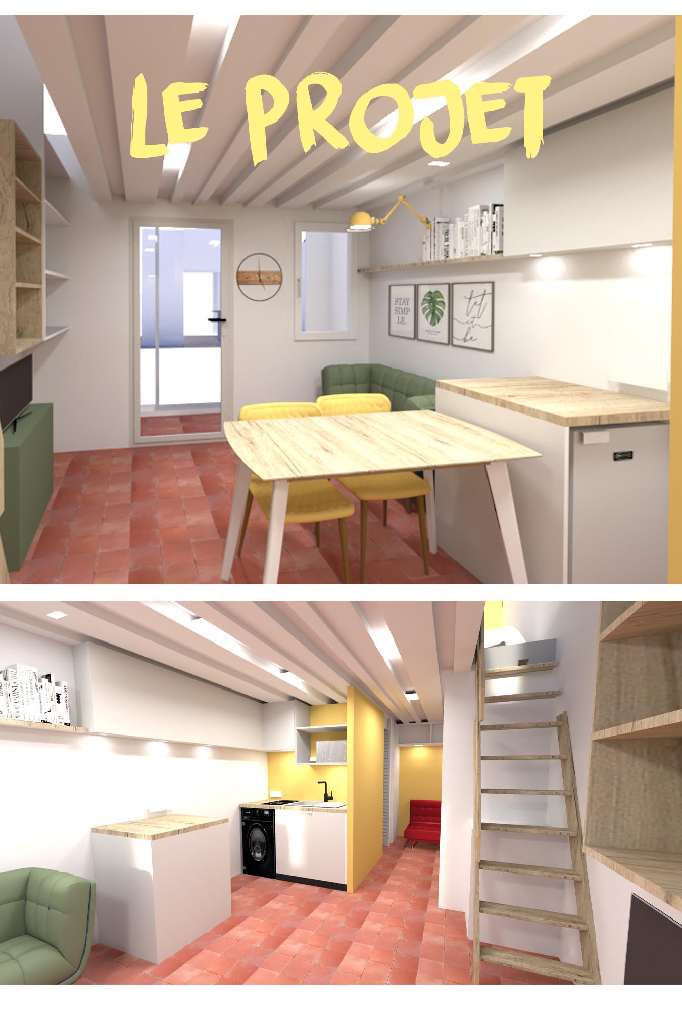 intérieur agencement privé 3D implantation projet