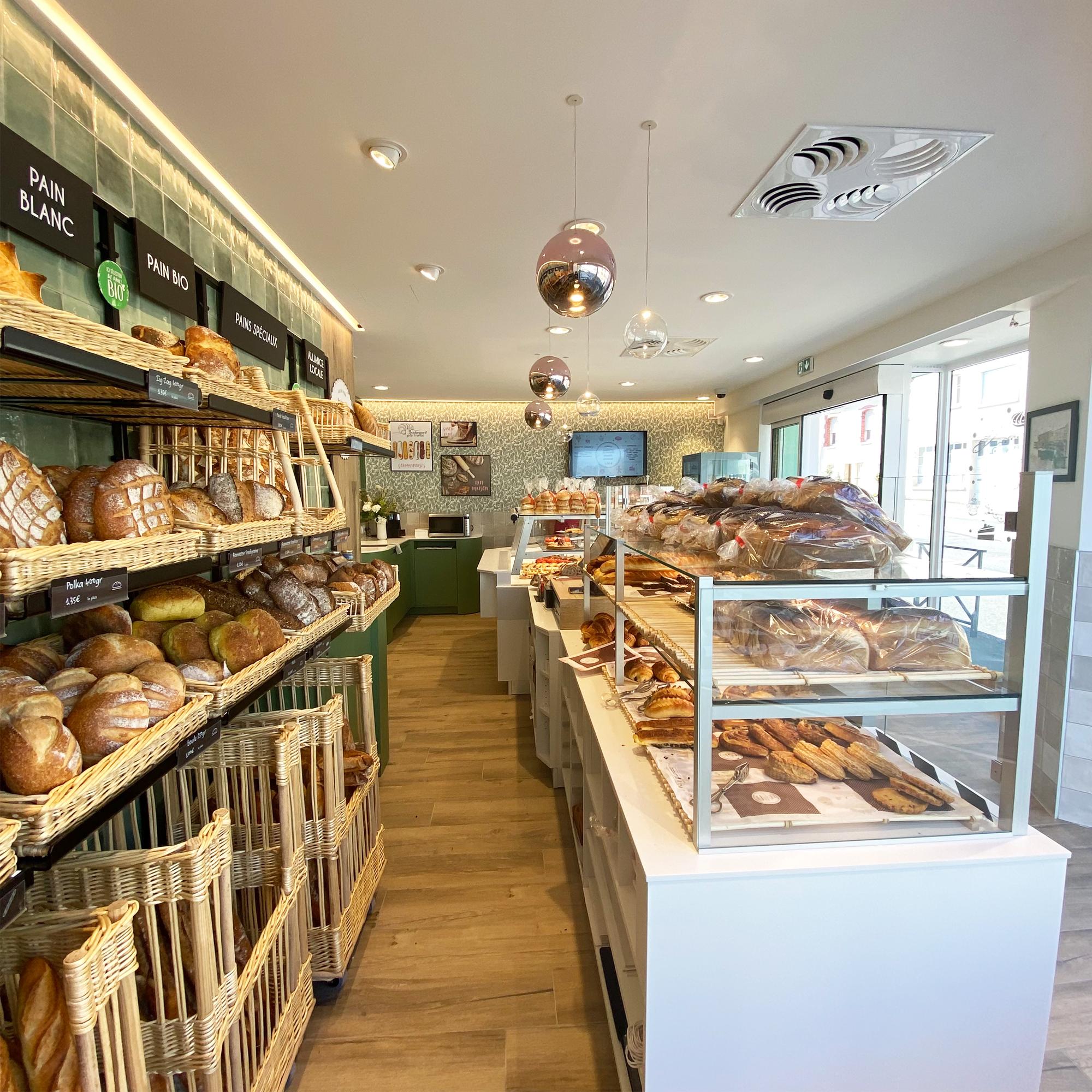 intérieur détails rénovation boulangerie rennes architecture