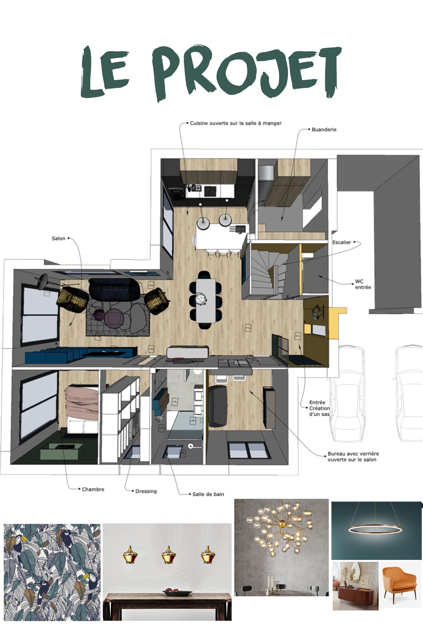 proposition 3D agencement validée création 3D interieur architecte