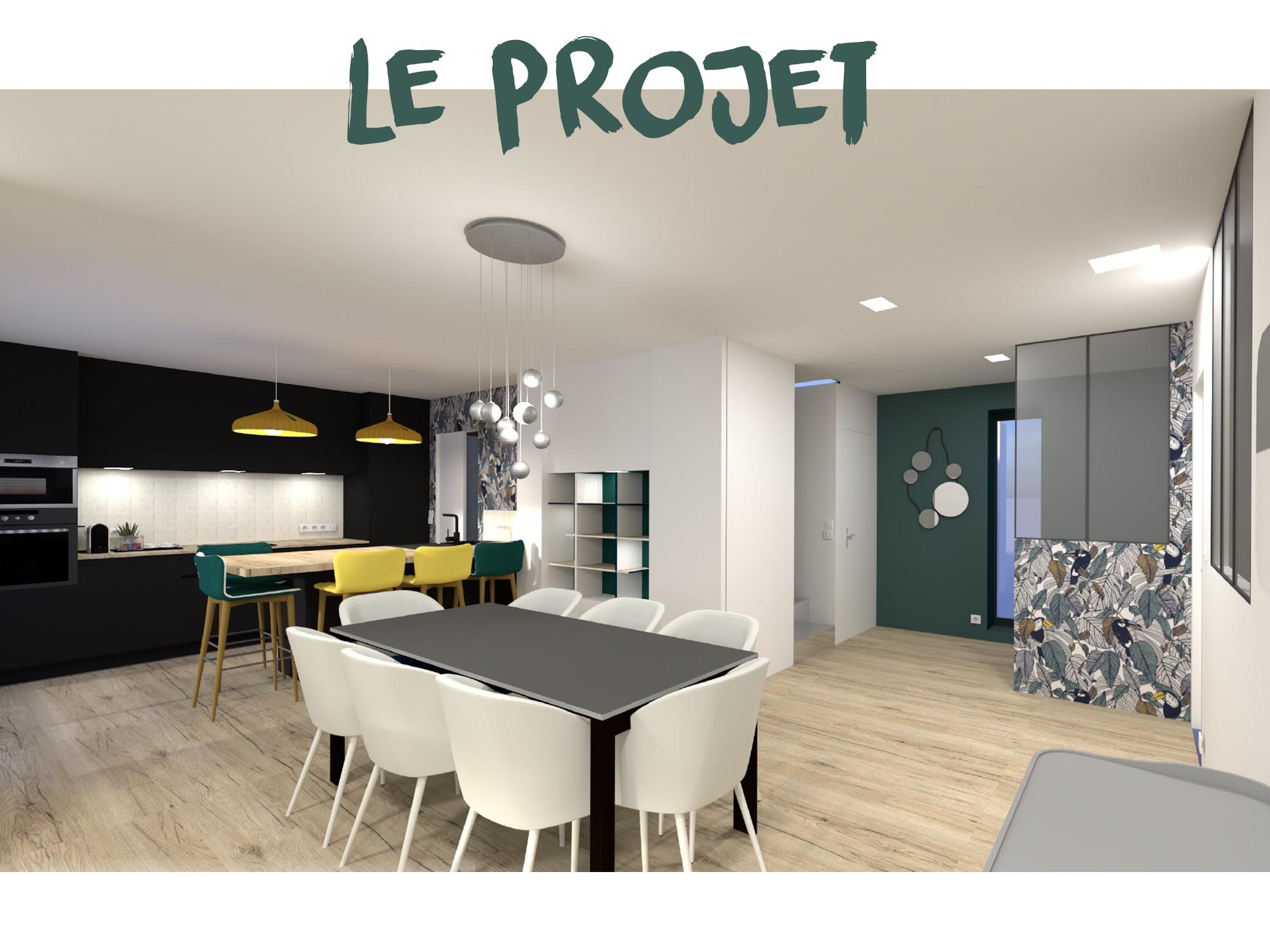 proposition 3D agencement validée création interieur architecte