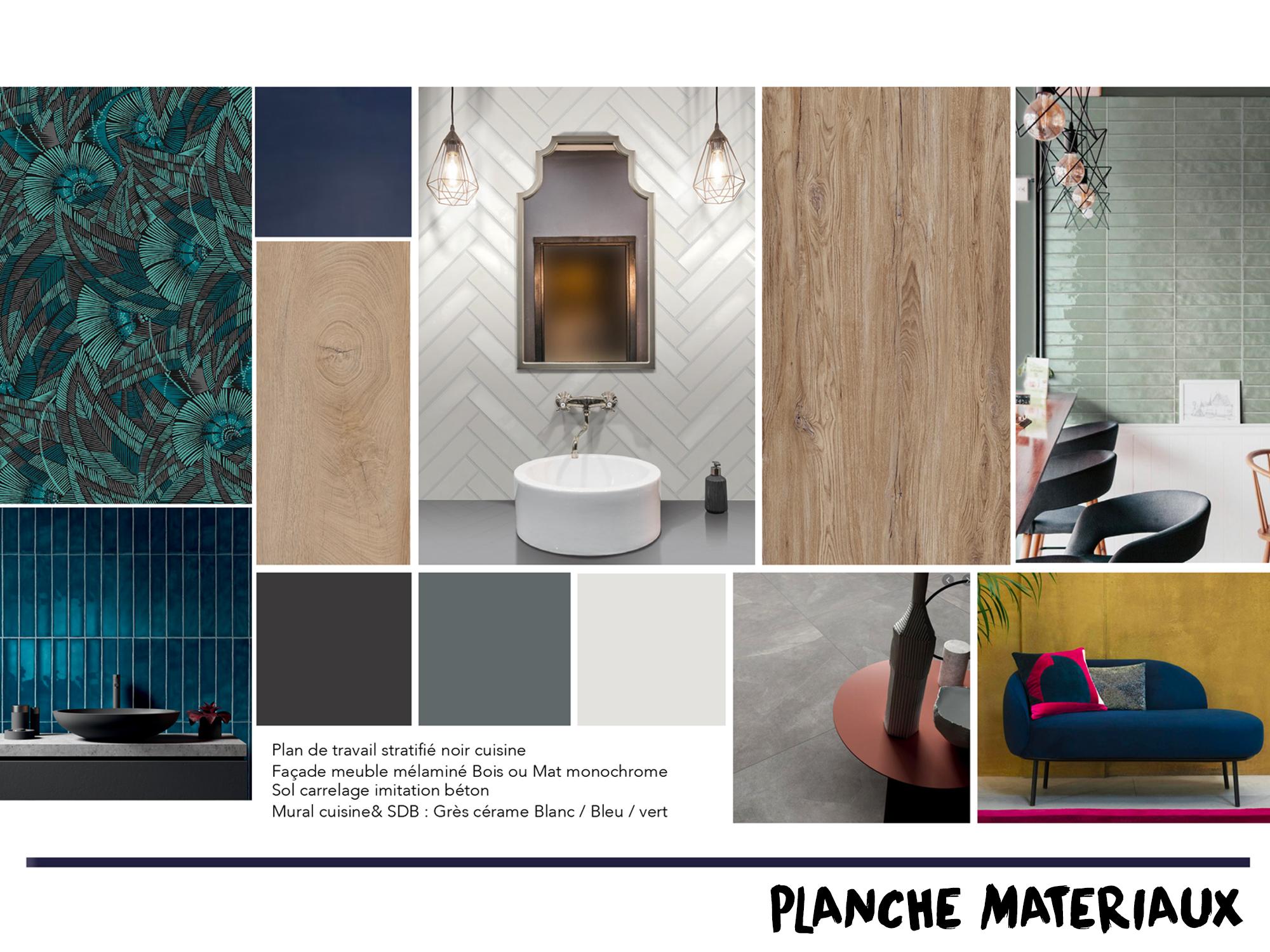 réalisation planches matériaux inspiration architecture
